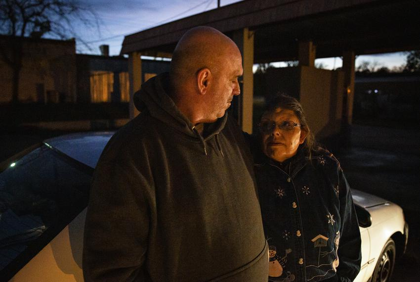 Tony Hall and Theresa Barnecutt have been living in their car since they were evicted from their homes in May. The couple is…