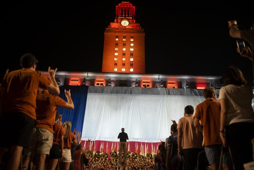 The University of Texas at Austin's Class of 2023 attends the university's annual Gone to Texas on Aug. 27, 2019.