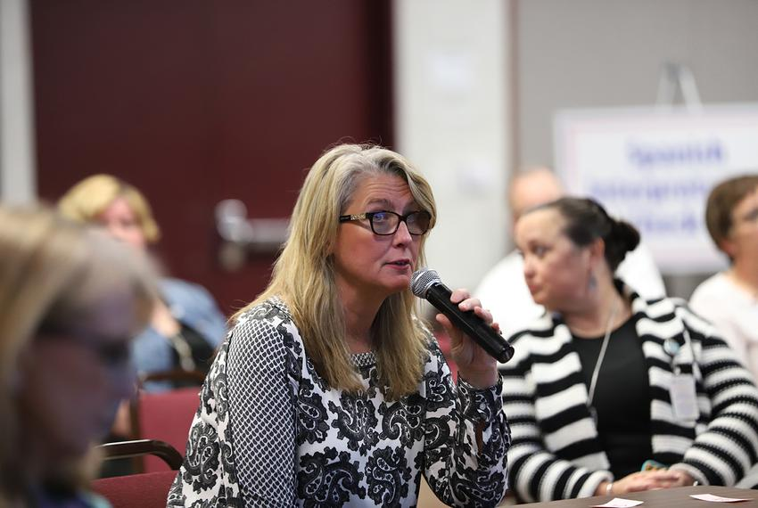 Jaculyn Zigtema, special education director for Whitehouse ISD, speaks during a Texas Education Agency hearing on special ed…