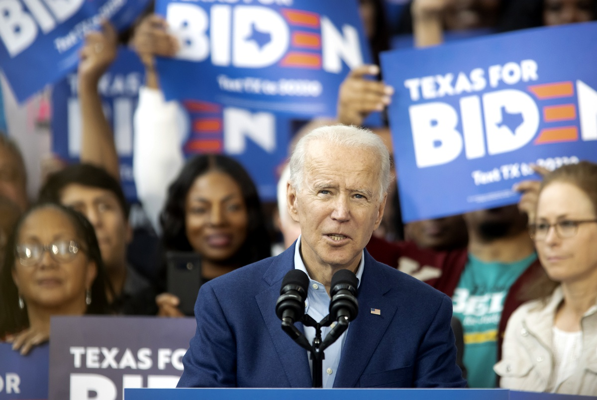 """Joe Biden tells Texas Democrats """"we have a real chance to turn the state blue"""""""