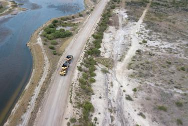 The Peelers have tried to kick San Miguel Electric Cooperative off their property, claiming the cooperative hasn't fulfilled its obligation to restore land damaged by mining. But San Miguel says it needs access to the haul roads on the Peeler property to get to its coal plant and other private land nearby where it's mining lignite.
