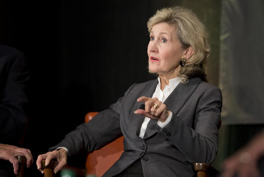 Former U.S. Sen. Kay Bailey Hutchison of Texas is shown speaking at The Texas Tribune Festival on Sept. 20, 2014.