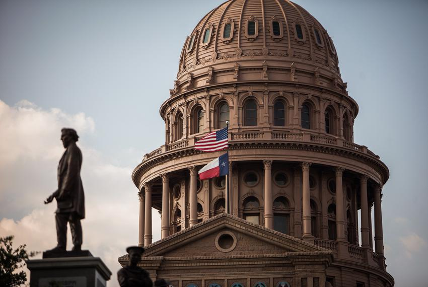 The south end of the Texas State Capitol on June 28, 2012.