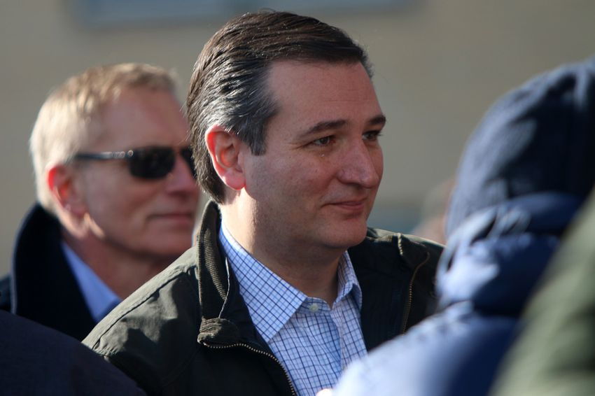 Republican presidential candidate and Texas U.S. Sen. Ted Cruz campaigns in New Hampshire in February.