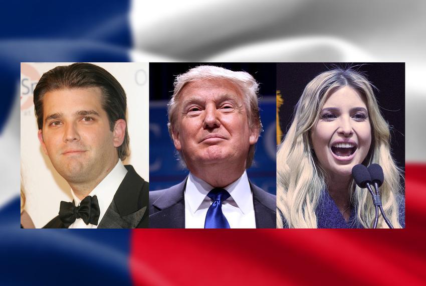 Donald Trump Jr., Donald Trump and Ivanka Trump