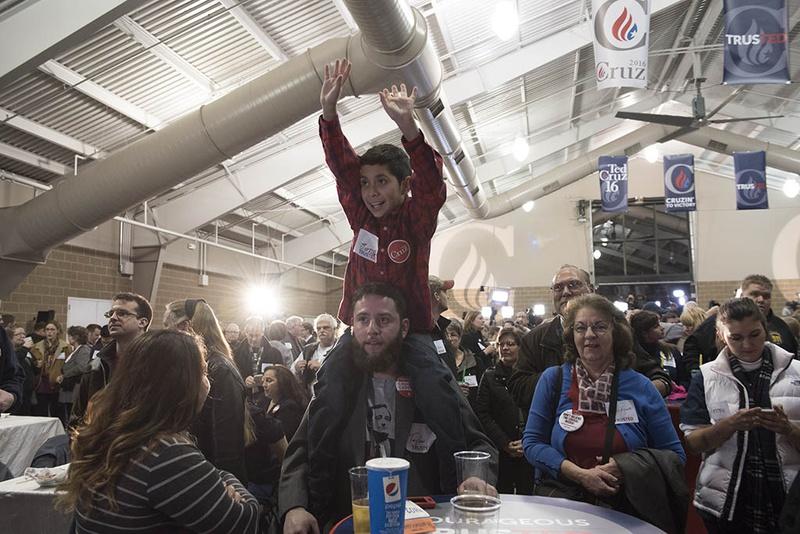 Supporters of Ted Cruz in Des Moines, Iowa, had plenty to celebrate on Feb. 1, 2016, Cruz won the state's Republican caucus.