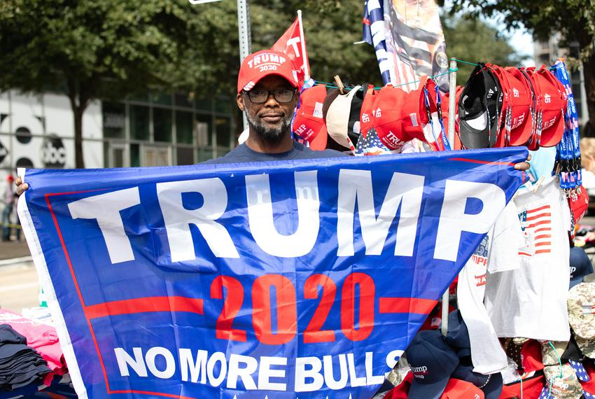 Nathan Quick drove over 1000 miles to be at the rally for President Trump in Dallas at the American Airlines Center on Thurs…