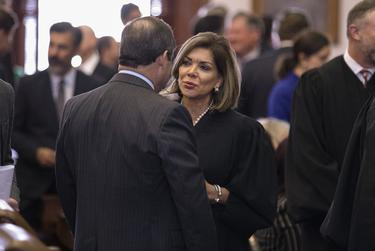 Justice Eva Guzman at the State of the State address at the state capitol. Feb. 5, 2019.