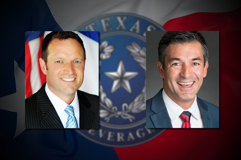 State Rep. Jason Isaac, R-Dripping Springs and Ramon Romero Jr., D-Fort Worth. The lawmakers have filed amendments aimed at cutting off the TABC's out-of-state traveling privileges and the agency's reliance on outside groups to host conferences in Texas.