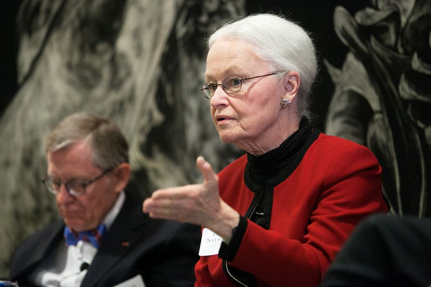 Diana Natalicio, President of The University of Texas at El Paso, joined higher education leaders for a panel discussion on college completion recommendations in Austin, Texas.