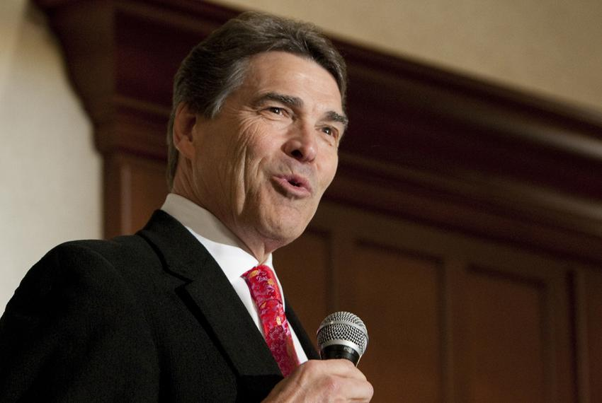 Gov. Rick Perry speaks at Williamson County Republican dinner in Round Rock, his first public speech since leaving the presi…
