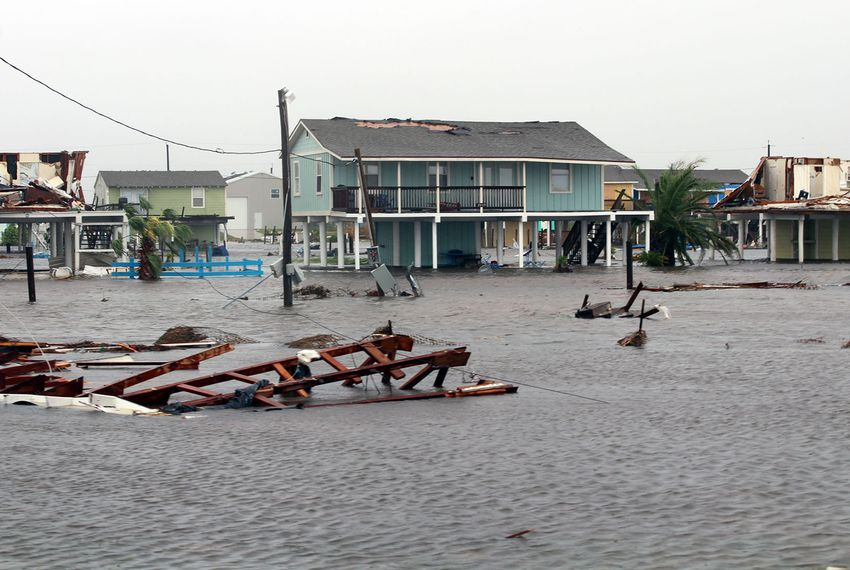 Hurricane Harvey struck Rockport, Texas, on Aug. 25, 2017, causing widespread flooding and property damage.