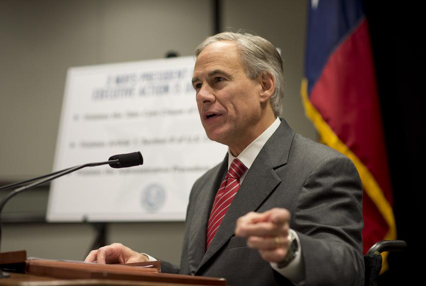 Attorney General Greg Abbott indicates his willingness to sue President Obama on immigration during a press conference Nov. …