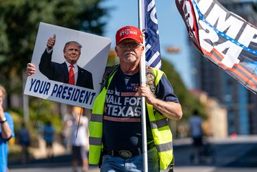 Supporters of President Trump gather at the Texas State Capitol for the 'Stop the Steal' rally, after Joe Biden was declared the winner of the 2020 Presidential Election.
