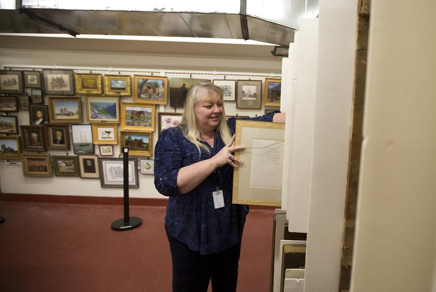 Leslie Stapleton has managed the Daughters of the Republic of Texas archives for 16 years, and welcomes visitors to its ne...