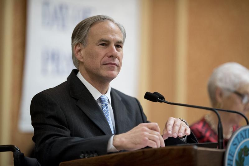 Gov. Greg Abbott at the Texas State Prayer Breakfast in Austin on May 4, 2015.