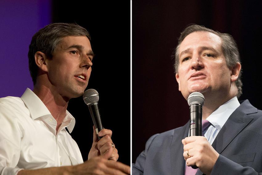 U.S. Rep. Beto O'Rourke, D-El Paso (left), is challenging Republican incumbent U.S. Sen. Ted Cruz.