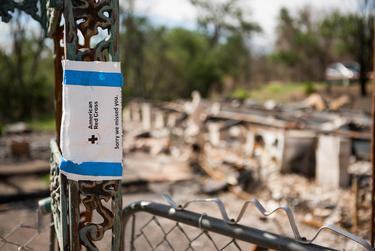 As many as half of the residents displaced by the fire may not return.