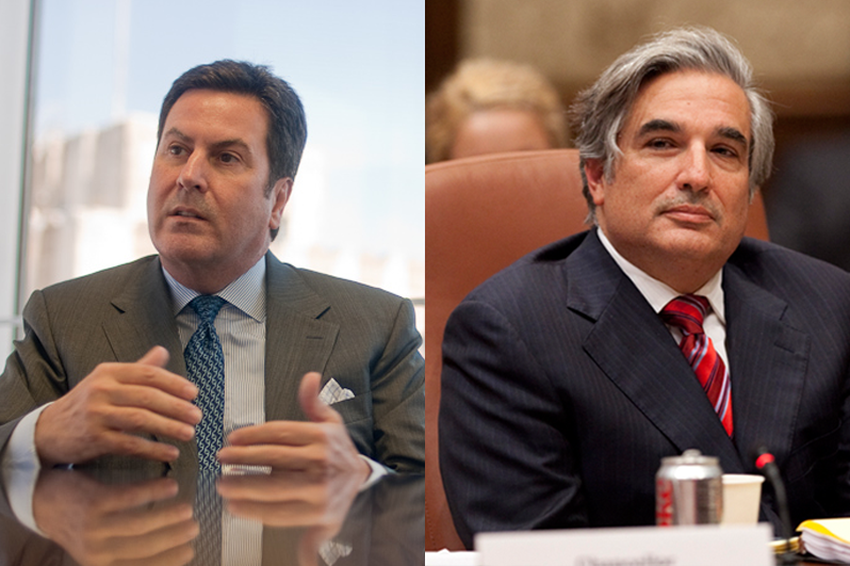 University of Texas System Chancellor Francisco G. Cigarroa and Texas State University System Chancellor Brian McCall