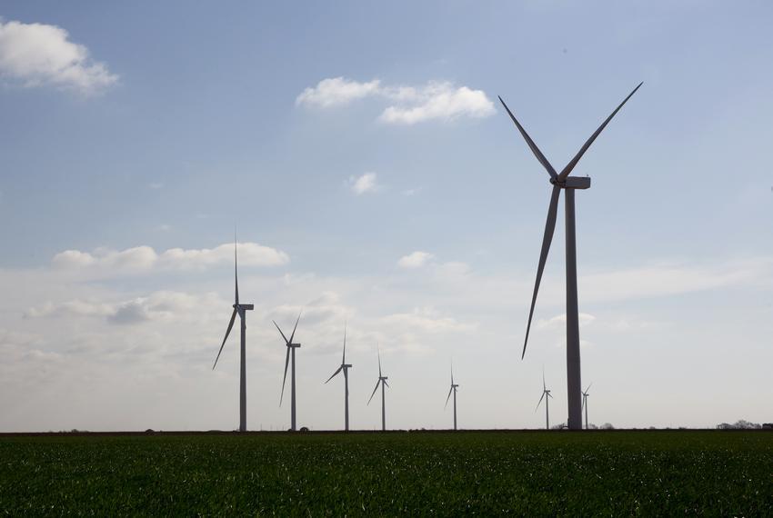 Wind farm in Harrold, Texas.
