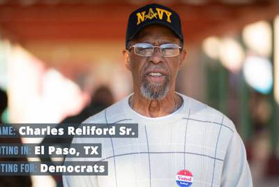 "Charles Reliford Sr., 74, said (with a laugh): ""I'm voting all Democrat, because I'm just a Democrat."""