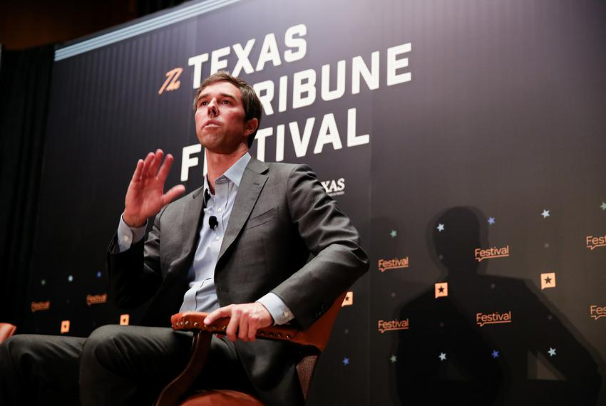 U.S. Rep. Beto O'Rourke, D-El Paso, discusses his Senate bid against incumbent Ted Cruz with Tribune CEO Evan Smith at The...