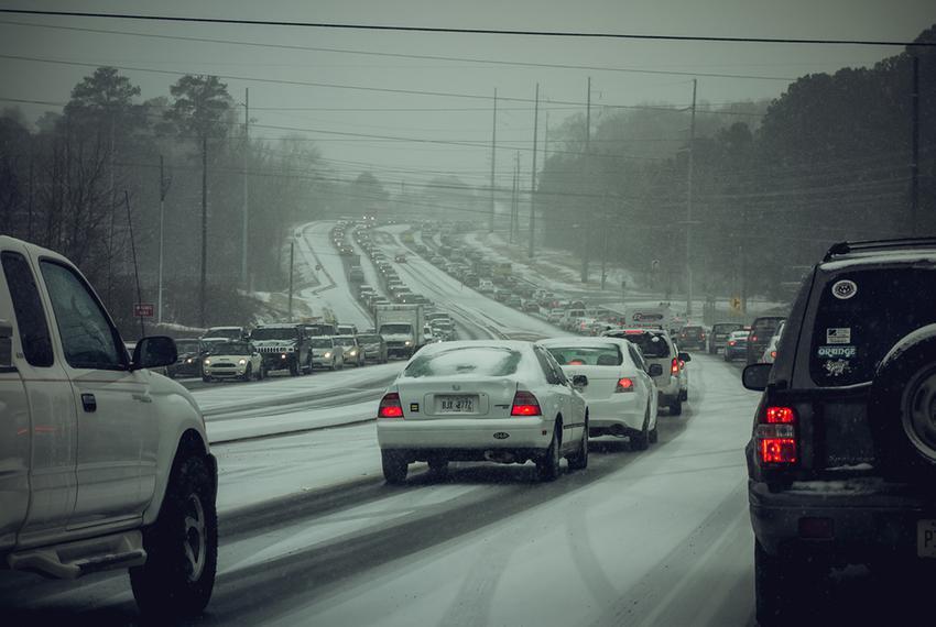 Traffic in Woodstock, Ga., outside Atlanta on, Jan. 21, 2014.