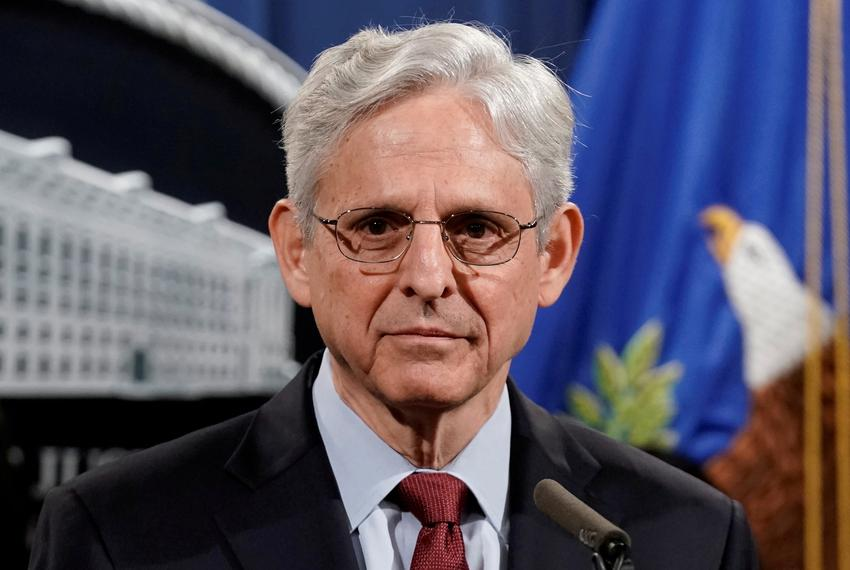 U.S. Attorney General Merrick Garland at a news conference at the Department of Justice in Washington on June 25, 2021.
