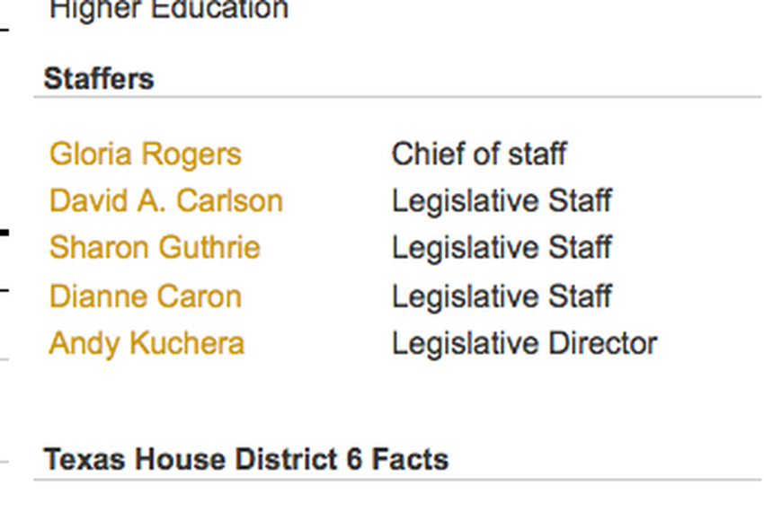 A detail from State Rep. Leo Berman's directory page.