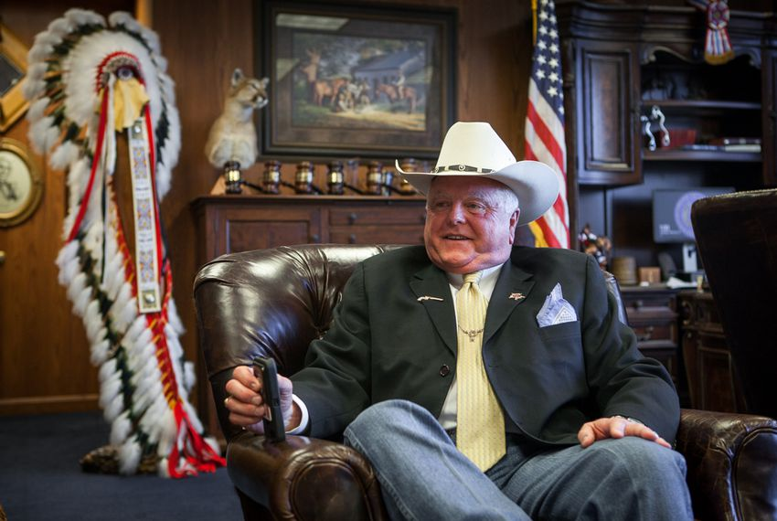 Texas Agriculture Commissioner Sid Miller in his office on Feb. 25, 2016.