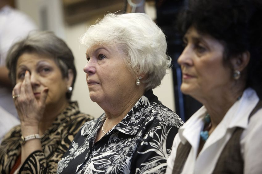 From Left, Patricia Willingham Cox, Cameron Todd Willingham's cousin, Eugenia Willingham, his stepmother, and Judy Cavnar, his cousin, are seeking to clear Willingham's name from a 1991 arson case for which he was executed in 2004. They spoke at a press conference at the Capitol on Wednesday, October 24th, 2012.