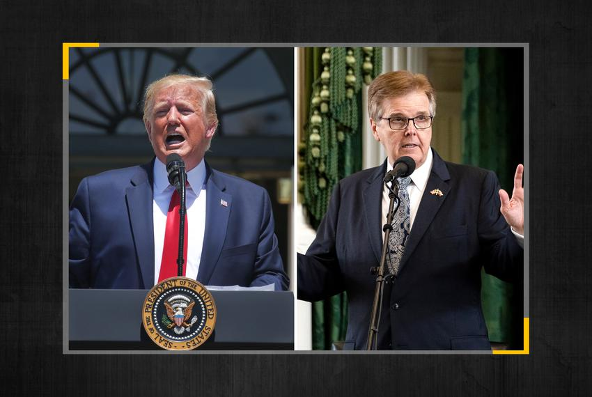 President Donald Trump and Lt. Gov. Dan Patrick.