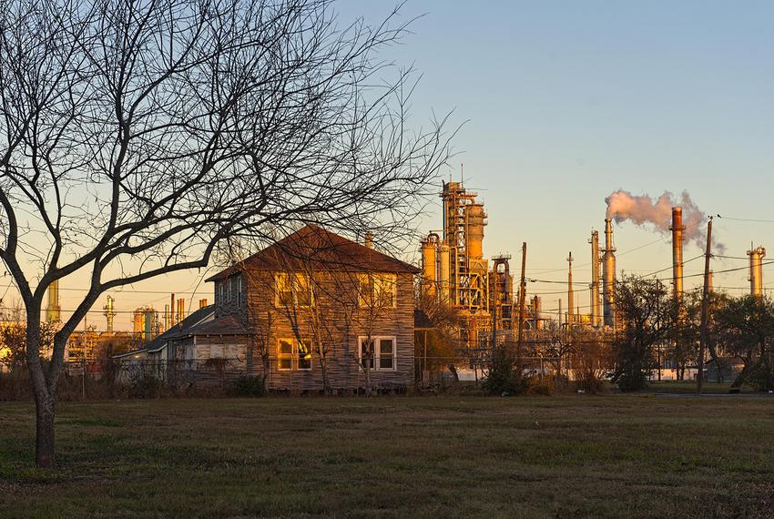 A refinery at the end of a residential street in Corpus Christi's Hillcrest neighborhood on January 24, 2017.