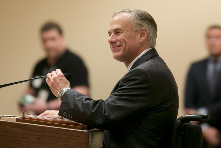 Attorney General Greg Abbott, the Republican nominee for governor, speaks at a GOP women's luncheon on Oct. 8, 2014.