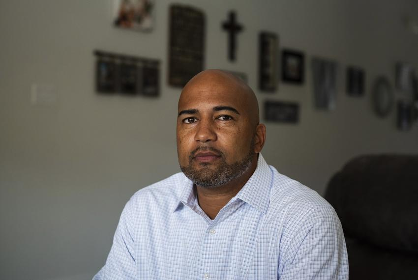 James Whitfield, 43, principal at Colleyville Heritage High School, has been placed on leave by the Grapevine-Colleyville IS…