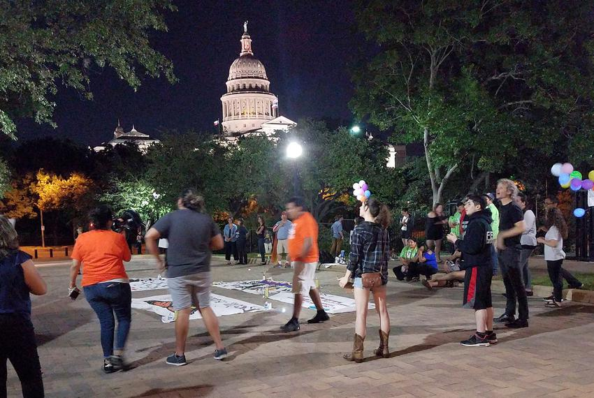 "Protesters turn out at the Capitol in Austin hours after Gov. Greg Abbott signs Senate Bill 4  — the ""sanctuary cities"" bi..."