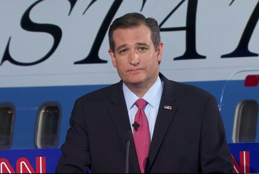U.S. Sen. Ted Cruz at the CNN Presidential Debate in Simi Valley, California on Sept. 16, 2015.