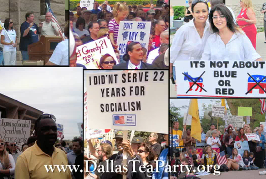 Screen shot of the Dallas Tea Party's video challenging Keith Olbermann.