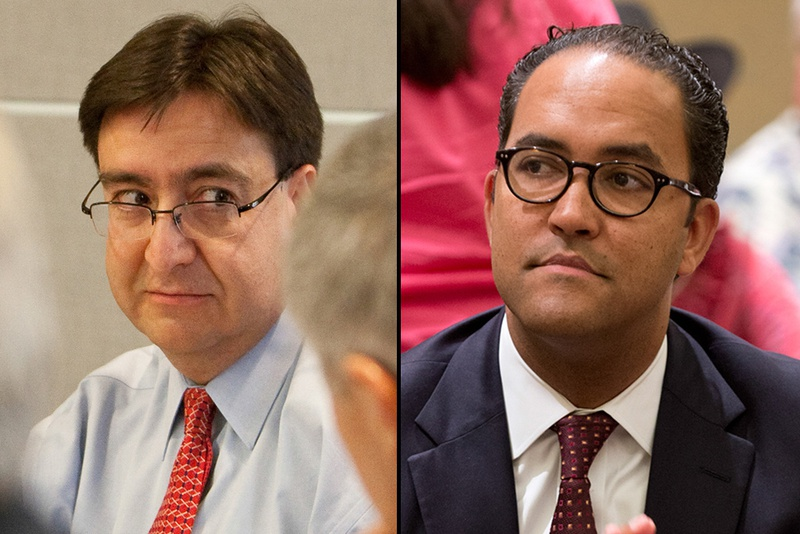U.S. Rep. Pete Gallego (left), an Alpine Democrat, is facing a challenge from Will Hurd, a former CIA agent, in the race to represent the 23rd Congressional District.