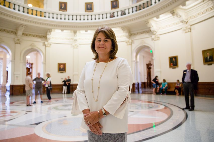 Maurine Molak, who founded the anti-cyberbullying nonprofit David's Legacy Foundation after her son David took his own life, visits the Capitol on August 1, 2017.