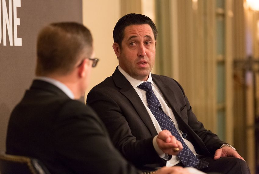 Texas Comptroller Glenn Hegar is interviewed by Texas Tribune CEO and Editor-in-Chief Evan Smith on Jan. 21, 2016.