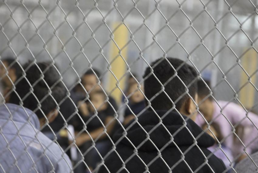 Undocumented immigrant children at a U.S. Border Patrol processing center in McAllen, Texas.