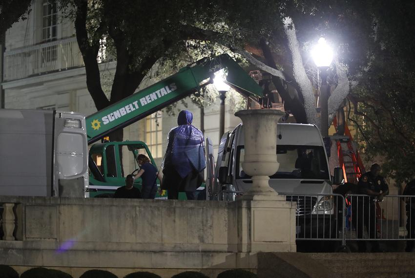 Late Sunday night, Aug. 20, 2017, UT-Austin announced it would take down three Confederate statues on campus. A statue of ...
