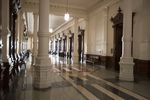 An empty corridor at the Capitol.