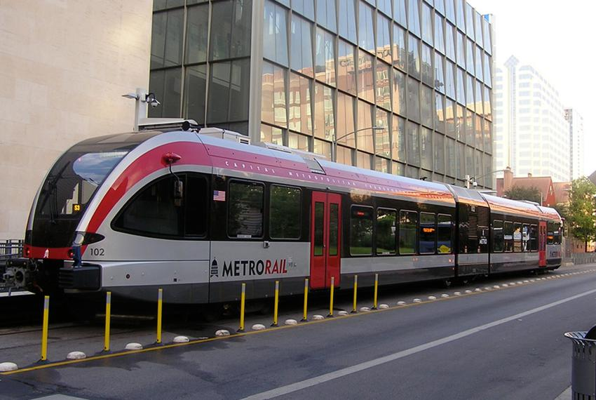 Capital Metro's current MetroRail line runs between downtown Austin and the northern suburb of Leander. A proposed 2014 bond…