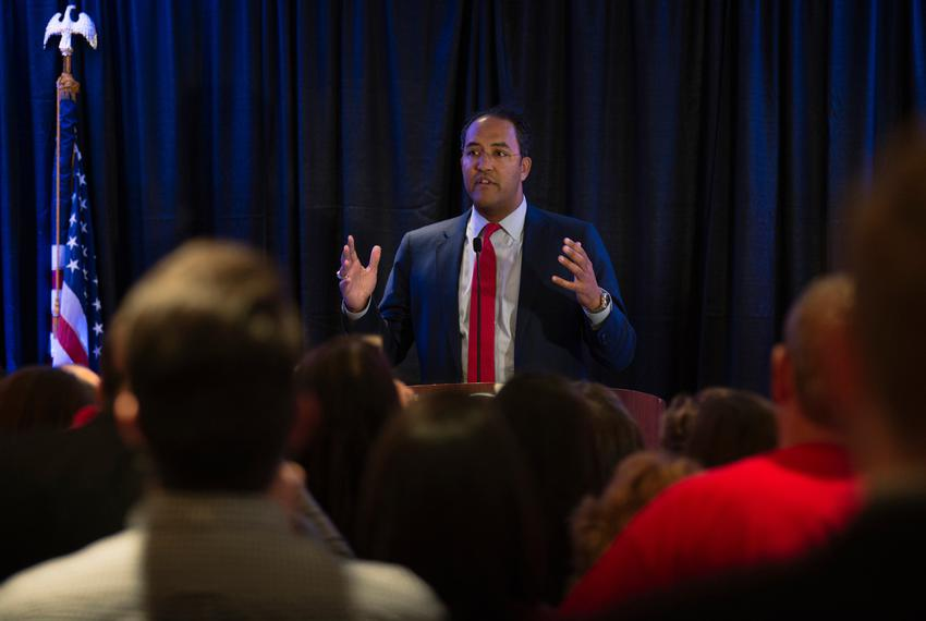 Candidate Will Hurd in San Antonio on Nov. 8, 2016