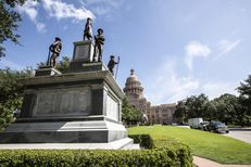 TheConfederate Soldiers' Monument on the south lawn of the state Capitol in Austin.