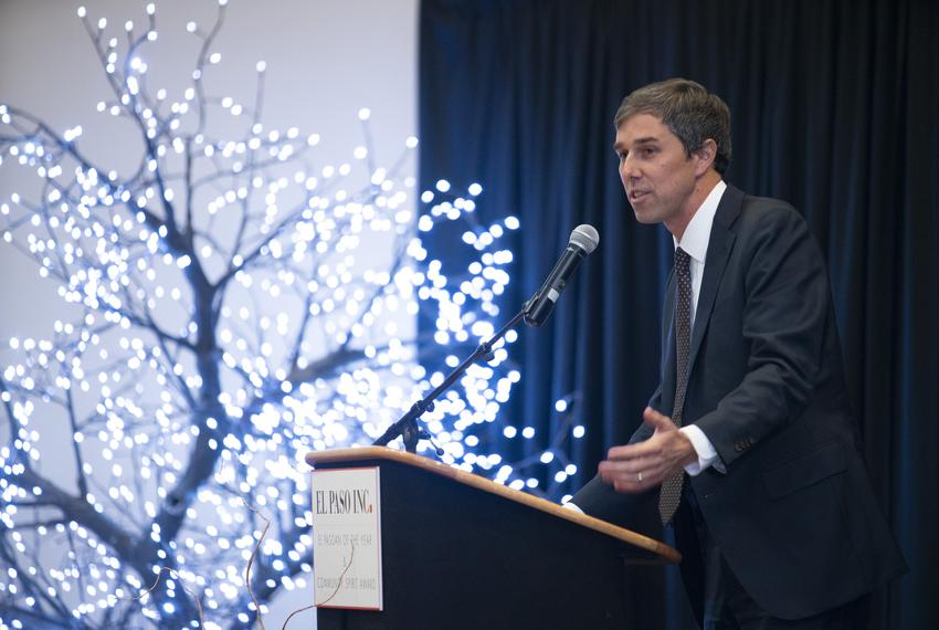 Former U.S. Rep. Beto O'Rourke speaks at the El Pasoan of the Year ceremony in El Paso on Feb. 19, 2019.