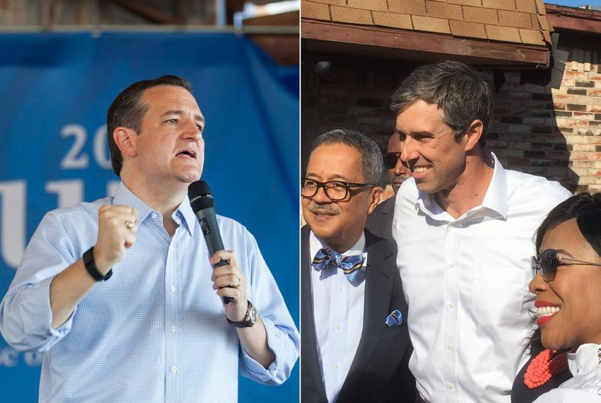 U.S. Sen. Ted Cruz (left), and U.S. Rep. Beto O'Rourke, D-El Paso, campaign in Fort Worth.