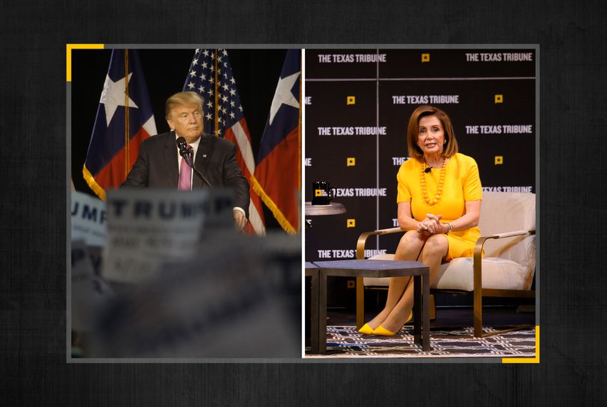 President Donald Trump and Speaker of the House Nancy Pelosi.